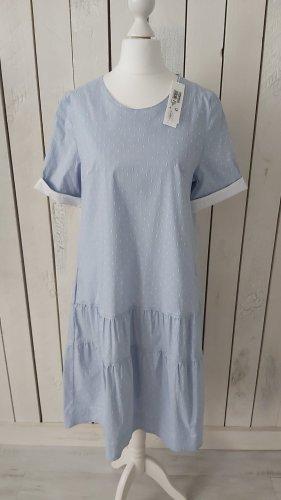 Kleid von Hubert Gasser hellblau weiss Gr. 36 NEU m. Etikett