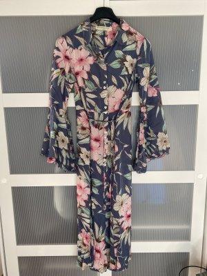 Isla Ibiza Shirtwaist dress cornflower blue-light pink