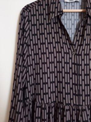0039 Italy Abito blusa nero-marrone-grigio