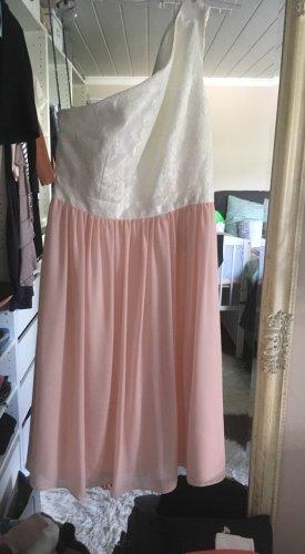 Kleid von Jake's in weiß und rosa Größe XS