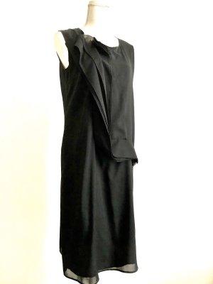Jil Sander Szyfonowa sukienka czarny