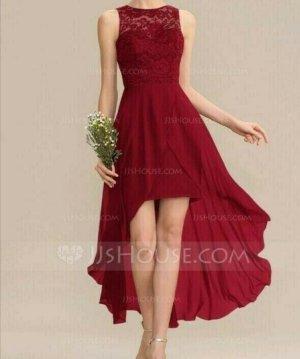 JJ''S House Robe bas asymétrique rouge carmin
