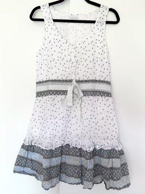 Kleid von Kaffe Weiß mit Hellblau Größe 36 S