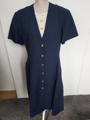 Laura biagiotti Gabardina tipo vestido azul oscuro