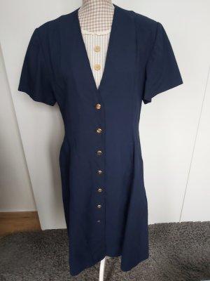 Kleid von Laura Biagiotti in dunkelblau Größe 48 (italienisch)