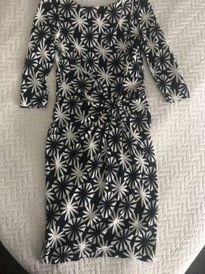 Laurèl Vestido de tela de jersey azul oscuro-blanco puro