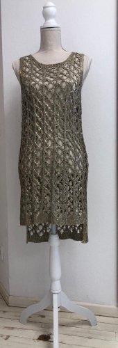 leana woman Mini vestido color oro-marrón grisáceo