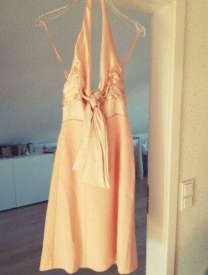 List Sukienka z dekoltem typu halter różany-jasny różowy