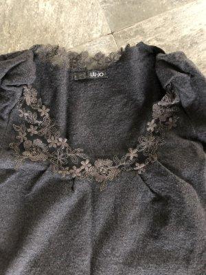 Liu jo Woolen Dress dark grey wool