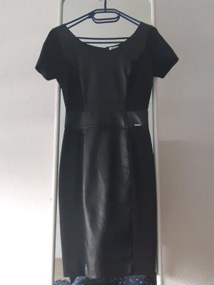 Liu jo Leren jurk zwart-zilver