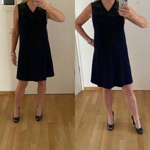 Louis Vuitton Abito linea A blu scuro Cotone