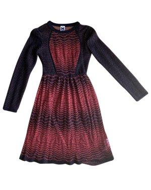 Missoni Koronkowa sukienka czarny-czerwony