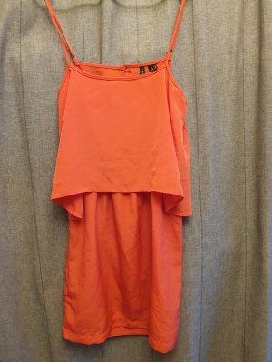 Mango Pinafore dress salmon