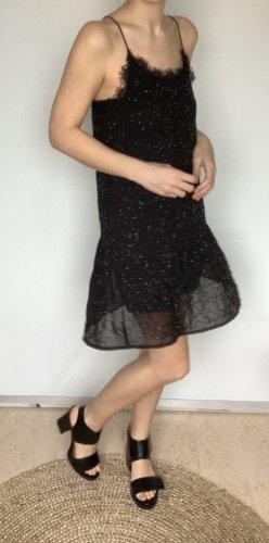 Mango Fringed Dress black