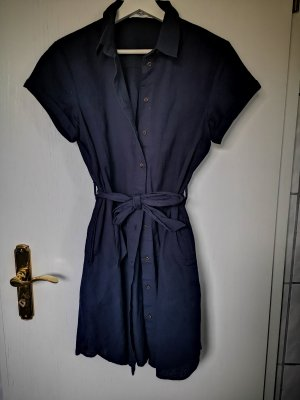 Mango Robe chemise bleu foncé