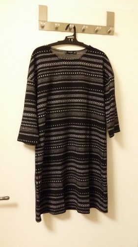 Mango Basics Vestido de tela de sudadera negro-color plata