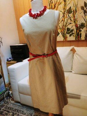 Magnum Sukienka z wycięciem kremowy-jasnobeżowy Bawełna