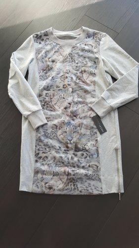 marc cain sports Robe Sweat gris clair-bleu azur