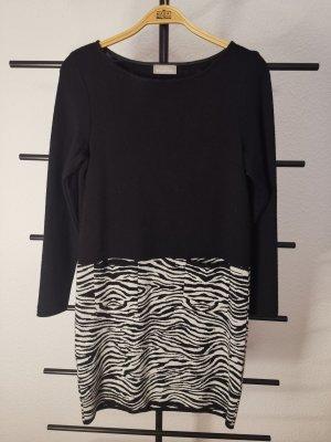 MARIA BELLENTANI Longsleeve Dress white-black