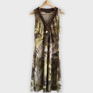 Mexx Sukienka maxi brązowy-zielono-szary