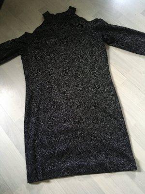 Michael Kors Sukienka mini czarny-srebrny Nylon