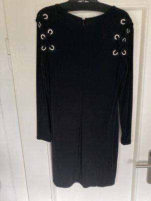 Michael Kors A-lijn jurk zwart-zilver Modal