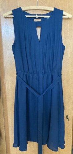 Mint&berry A Line Dress dark blue