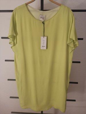 Minx Summer Dress lime yellow acetate