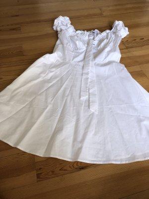 Aéryne x NA-KD Mini vestido blanco Algodón