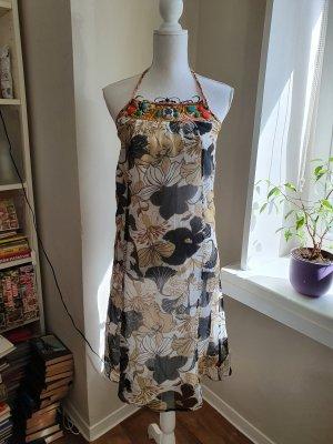 Object Sukienka z dekoltem typu halter Wielokolorowy