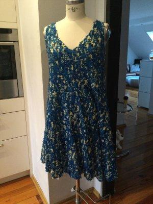 Odeeh Sukienka typu babydoll stalowy niebieski-jasnobeżowy