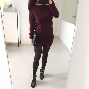 Only Sweatjurk bordeaux-karmijn