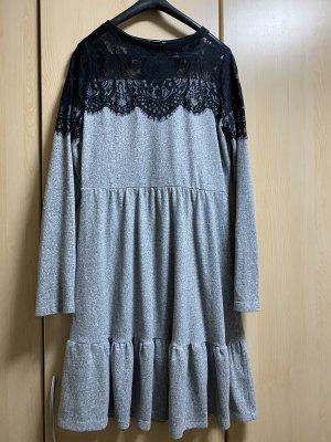 Orsay Lace Dress black-grey