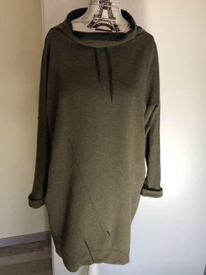 Oska Vestido de tela de sudadera gris-gris verdoso