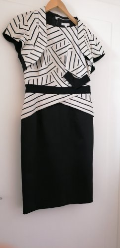 Paule ka Sheath Dress white-black cotton