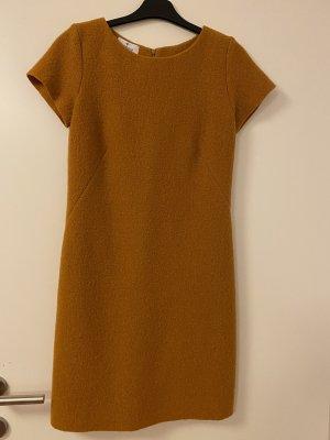 Piú & Piú Vestido de lana naranja dorado