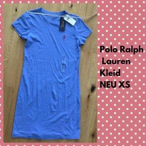 Polo Ralph Lauren Vestido estilo camisa azul acero Algodón