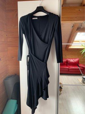 René Lezard Kopertowa sukienka czarny