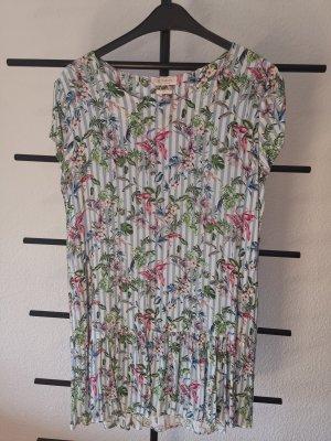 Rich & Royal Summer Dress grass green-pink viscose