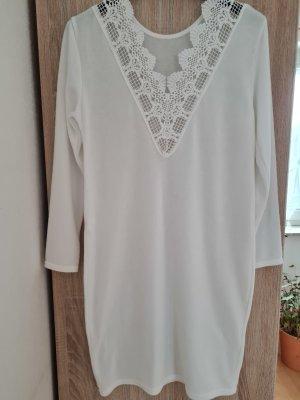 aus Italien Wollen jurk wit