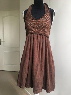 Twin-Set Simona Barbieri Vestido corsage marrón Algodón