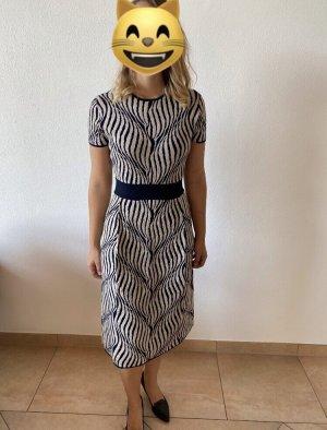 Stefanel Midi Dress white-dark blue