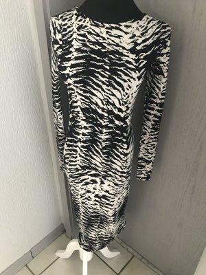 Topshop Longsleeve Dress natural white-black cotton