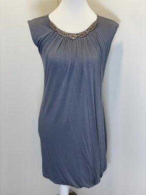 Velvet Sukienka tuba srebrny