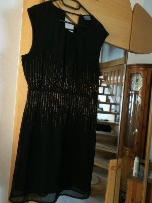 Vero Moda Vestido de lentejuelas negro-color bronce
