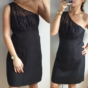 Vero Moda One Shoulder Dress black