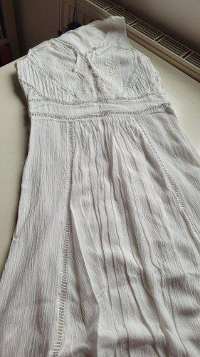Vila Clothes High Low Dress natural white