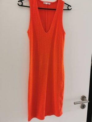 Zara Robe courte orange