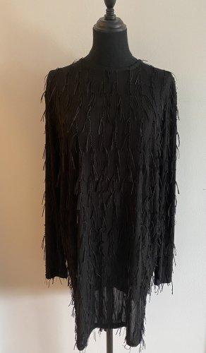 Zara Robe à franges noir