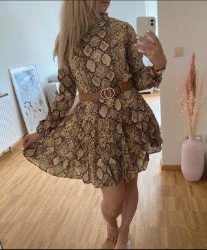 Zara Longsleeve Dress dark brown-beige